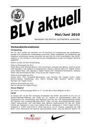 Newsletter Mai/Juni 2010 - Berliner Leichtathletik-Verband eV