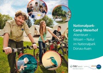Folder zum Nationalpark-Camp Meierhof Abenteuer – Wissen – Natur