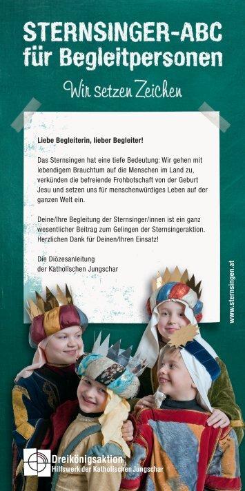 Sternsinger-ABC für Begleitpersonen - Dreikönigsaktion