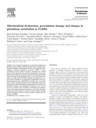 Mitochondrial dysfunction, peroxidation damage and changes in ...