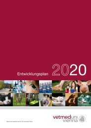 Entwicklungsplan - Veterinärmedizinische Universität Wien