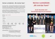 Wir sind das Team! - Berliner Leichtathletik-Verband eV