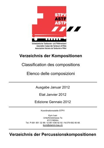 Perkussions-Verzeichnis 2012