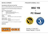 BSC YB - FC Staad - BSC Young Boys