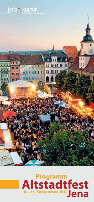 Programm Altstadtfest - Jena