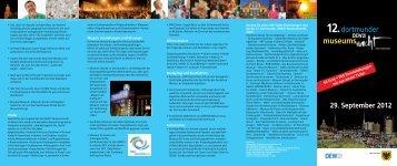 Museumsnacht 2012 - Flyer [pdf, 2,6 MB] - Stadt Dortmund