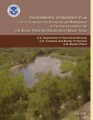 ENVIRONMENTAL STEWARDSHIP PLAN FOR THE - CBP.gov