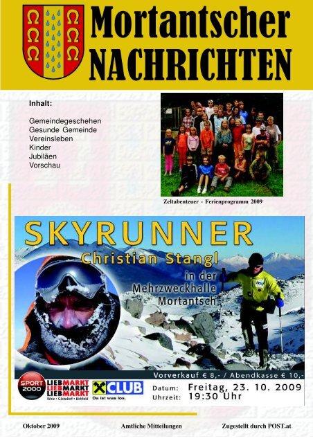 Veranstaltungen - Gemeinde Mortantsch