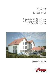 121128 Baubeschreibung Teurershof - STAUCH Bau GmbH