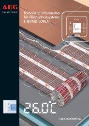Technische Information für Flächenheizsysteme ... - AEG Haustechnik