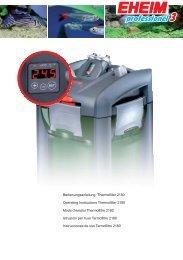 Bedienungsanleitung Thermofilter 2180 Operating ... - Eheim