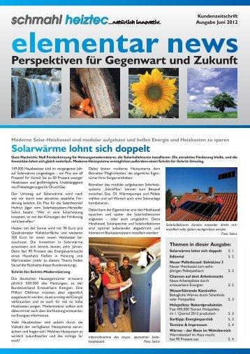 Kundenzeitung als PDF herunterladen! - schmahl heiztec GmbH