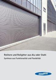 Rolltore und Rollgitter aus Alu oder Stahl - Kiefert GmbH