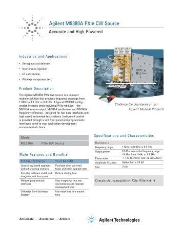 Agilent M9380A PXIe CW Source - Agilent Technologies