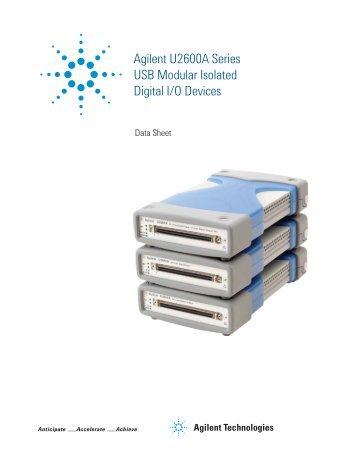 Agilent U2600A Series USB Modular Isolated Digital I/O Devices