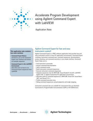 Agilent command expert download