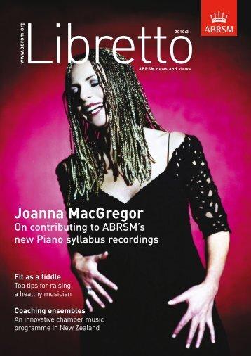 Libretto: ABRSM news and views - abrsm 2012