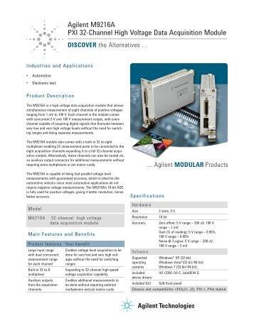 Agilent M9216A PXI 32-Channel High Voltage Data Acquisition ...