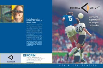 Brochure - Kopin Corporation