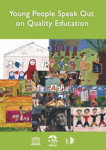 Young people speak out on quality education: views and proposals ...