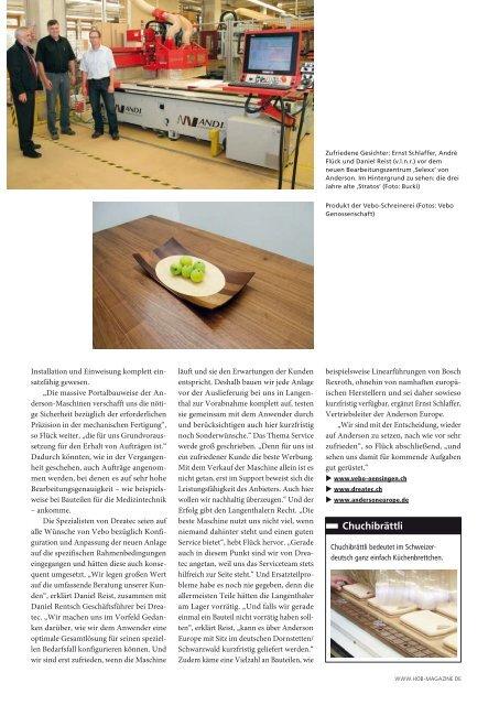 Pressebericht HOB, die Holzbearbeitung