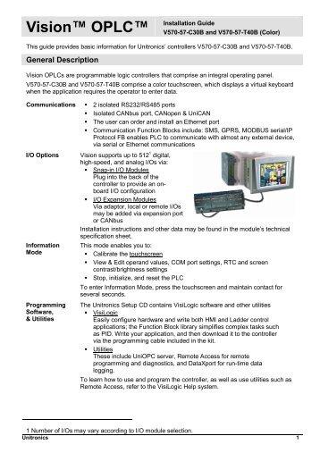 Unitronics v570 manual