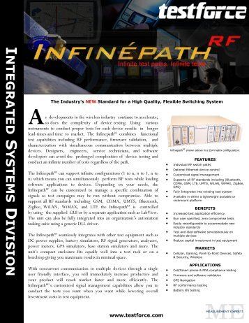 NTEGRATED YSTEMS IVISION - Global Test Solutions