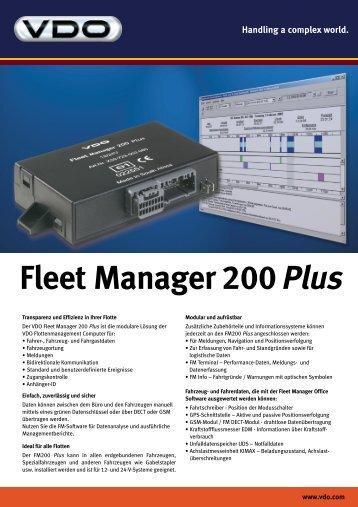 Fleet Manager 200Plus
