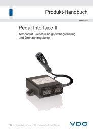 Pedal Interface II Produkt-Handbuch - Kienzle Automotive GmbH