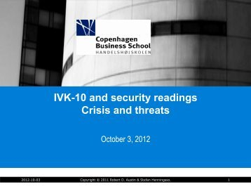 IVK-10 and security readings Crisis and threats - ebuss