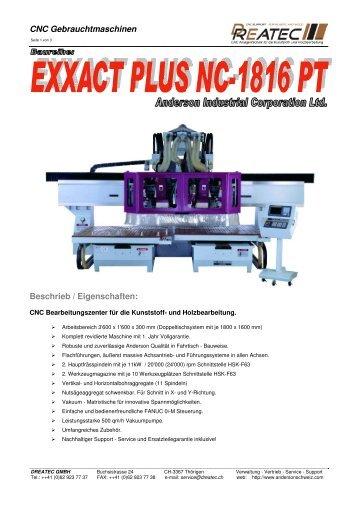 CNC Gebrauchtmaschinen Beschrieb ... - CNC Kunststoff