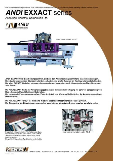 ANDI EXXACT series - CNC Kunststoff
