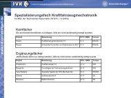 Kraftfahrzeugmechatronik I+II - Technische Kybernetik