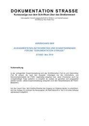 DOKUMENTATION STRASSE - FGSV