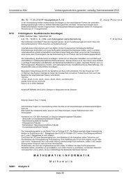 MATHEMATIK / INFORMATIKM athematik - koost - Universität zu Köln