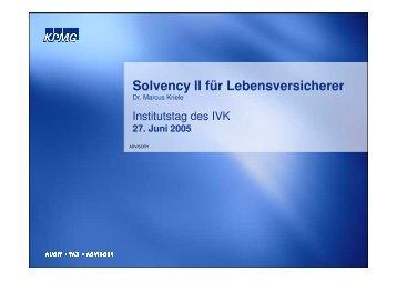 Solvency II für Lebensversicherer