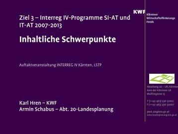 Integrierte Regionalstrategie Kärnten - KWF