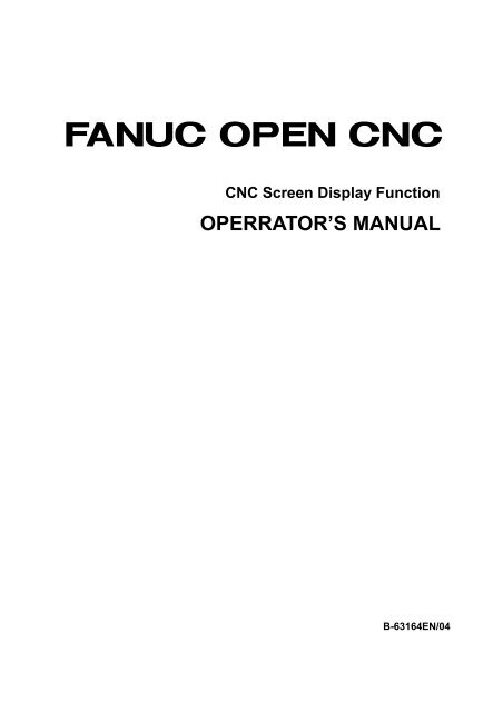Open CNC Screen Display Function