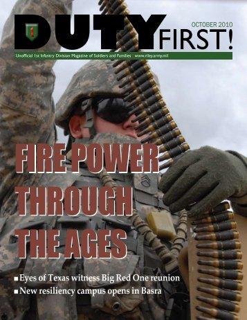 October 2010 - Fort Riley, KS - U.S. Army