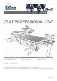 FLAT PROFESSIONAL LINE - CNC Kunststoff