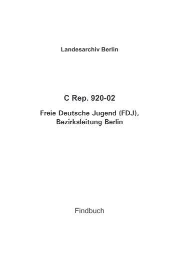C Rep. 920-02 - Landesarchiv Berlin