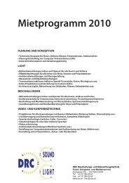 Mietprogramm 2010 - DRC