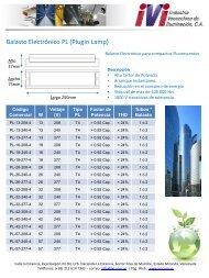 Descargue nuestro Catálogo de productos en Balastos electrónicos