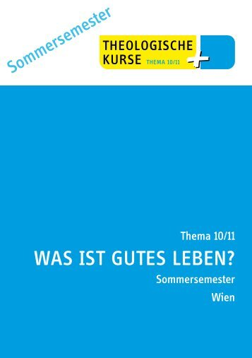Was isT guTes Leben? - Prof. Dr. Rotraud A. Perner