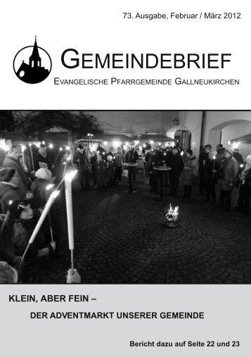 GEMEINDEBRIEF - Evangelische Pfarrgemeinde Gallneukirchen