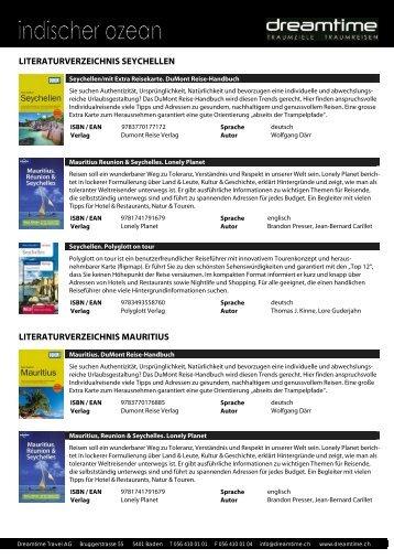 Literaturverzeichnis INDISCHER OZEAN - Dreamtime Travel