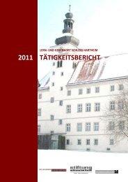 Tätigkeitsbericht 2011 - Gedenkstätte Schloß Hartheim