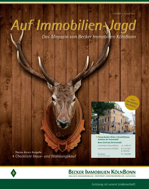 Auf Immobilien-Jagd - Becker Immobilien