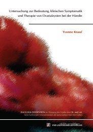 Untersuchung zur Bedeutung, klinischen Symptomatik und Therapie ...