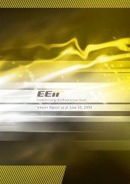 Interim Report as at June 30, 2009 - EEII AG